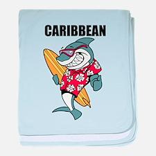 Caribbean baby blanket