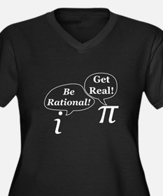 be.rational.get.real.white Plus Size T-Shirt
