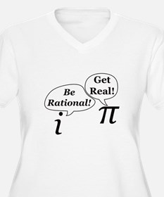 be.rational.get.real Plus Size T-Shirt