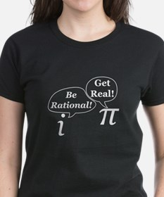 be.rational.get.real.white T-Shirt