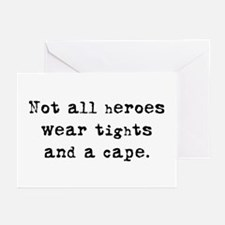 """""""Not all heroes"""" Greeting Cards (Pk of 10)"""