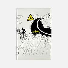 Bicycle Cartoon 9334 Rectangle Magnet