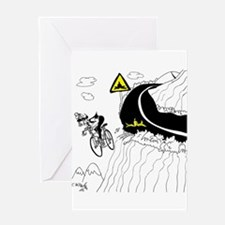 Bicycle Cartoon 9334 Greeting Card