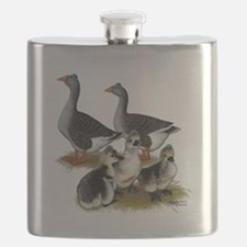Toulouse Tufted Goose Family Flask
