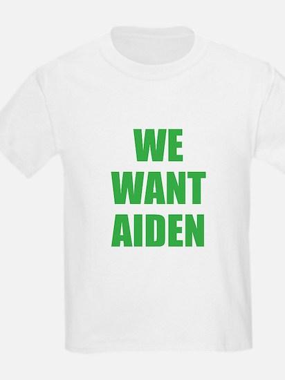 We Want Aiden Kids T-Shirt