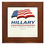 Hillary for President Framed Tile
