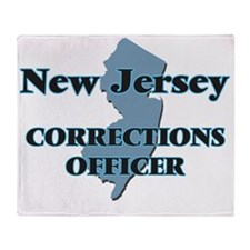 New Jersey Corrections Officer Throw Blanket