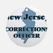 New Jersey Corrections Officer Round Ornament