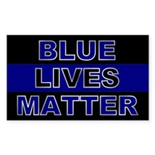 Blue Lives Matter Silver Decal