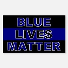 Blue Lives Matter Silver Decal