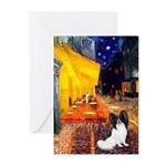 Cafe & Papillon Greeting Cards (Pk of 20)