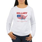 Hillary for President Women's Long Sleeve T-Shirt