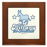 Hillary for President Framed Tile