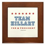 Team Hillary  Framed Tile