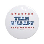 Team Hillary  Ornament (Round)