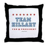 Team Hillary  Throw Pillow