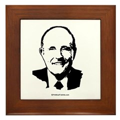 Rudy Giuliani Face Framed Tile