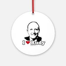 I Love Rudy Ornament (Round)