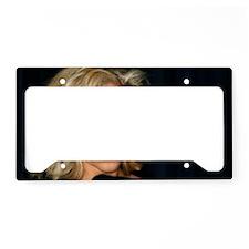 Blond Woman License Plate Holder