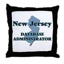 New Jersey Database Administrator Throw Pillow