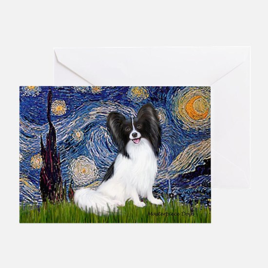 Starry Night Papillon Greeting Card