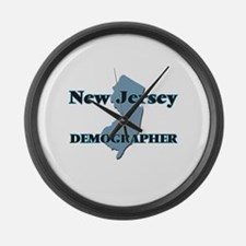 New Jersey Demographer Large Wall Clock