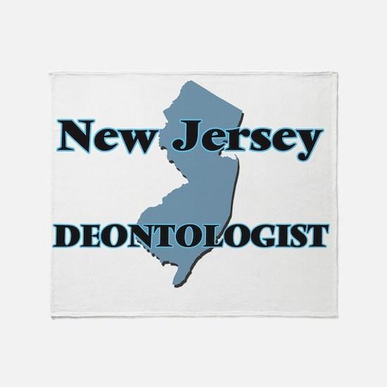 New Jersey Deontologist Throw Blanket