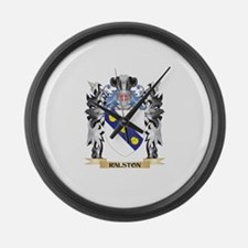 Ralston Coat of Arms - Family Cre Large Wall Clock