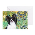 Irises & Papillon Greeting Card