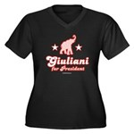 Giuliani for President Women's Plus Size V-Neck Da