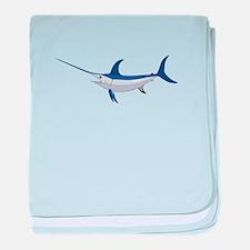 Swordfish baby blanket
