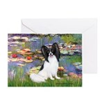 Lilies (2) & Papillon Greeting Card