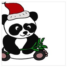 Christmas Panda Bear Poster