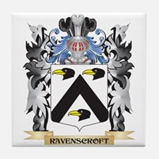 Ravenscroft Coat of Arms - Family Cre Tile Coaster