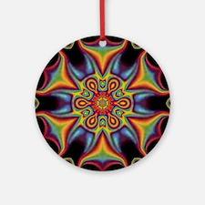Unique Abstract geometric Round Ornament