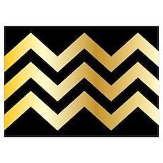 Trendy Chevron Pattern Design Poster