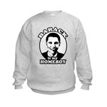 Barack Obama is my homeboy Kids Sweatshirt
