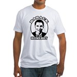Barack Obama is my homeboy Fitted T-Shirt