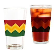 Trendy Chevron Pattern Design Drinking Glass