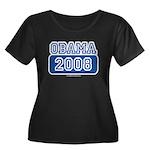 Obama 2008 Women's Plus Size Scoop Neck Dark T-Shi