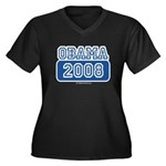 Obama 2008 Women's Plus Size V-Neck Dark T-Shirt