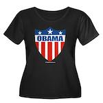 Obama Women's Plus Size Scoop Neck Dark T-Shirt