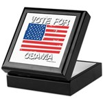 Vote for Obama Keepsake Box