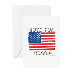 Vote for Obama Greeting Card