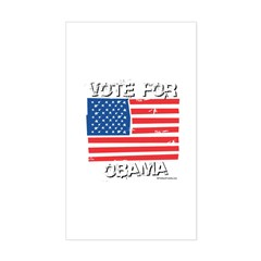 Vote for Obama Rectangle Decal
