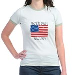 Vote for Obama Jr. Ringer T-Shirt