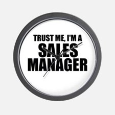 Trust Me, I'm A Sales Manager Wall Clock