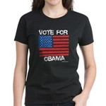 Vote for Obama Women's Dark T-Shirt