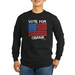 Vote for Obama Long Sleeve Dark T-Shirt