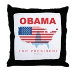 Obama for President Throw Pillow